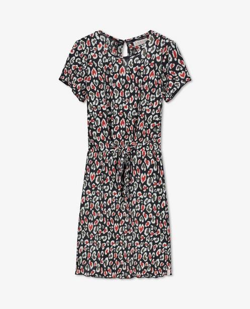 Zwarte jurk met kreukeffect Looxs - en allover print - Looxs