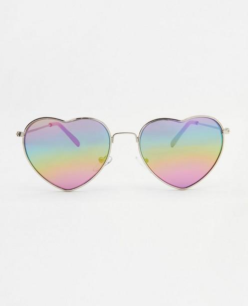 Hartvormige zonnebril - in roze - JBC