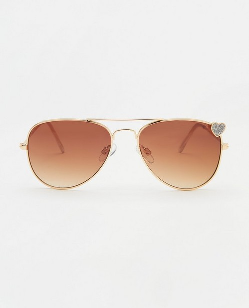 Pilotenbril met hartje - met metalen montuur - JBC