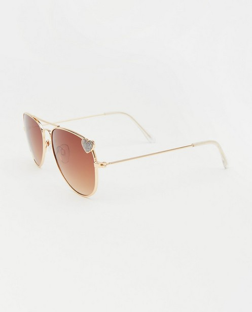 Zonnebrillen - Pilotenbril met hartje