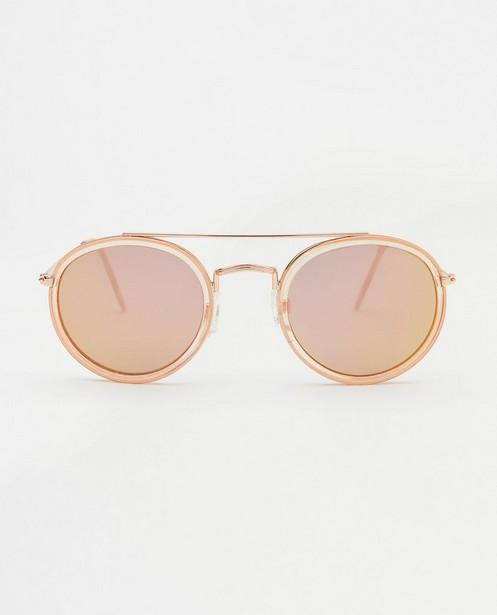 Roze zonnebril - met rond montuur - JBC