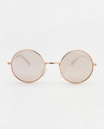 Ronde zonnebril in roze
