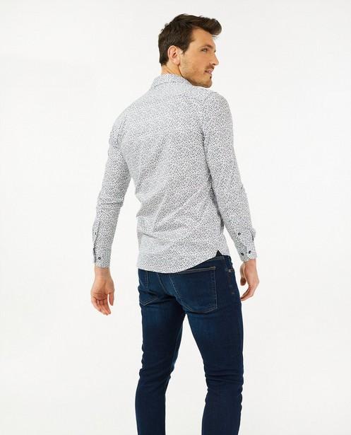 Wit hemd met bloemenprint s.Oliver - allover - S. Oliver