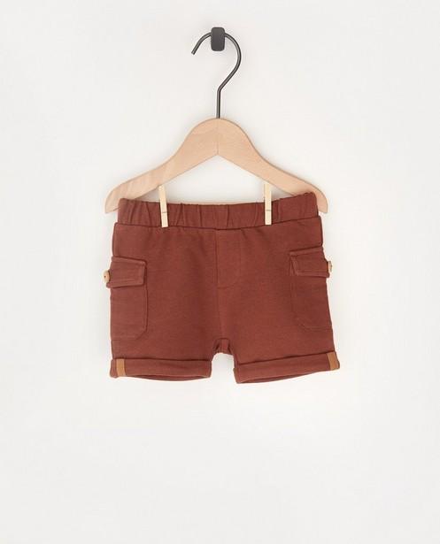 Short brun molletonné avec des poches - stretch - Cuddles and Smiles
