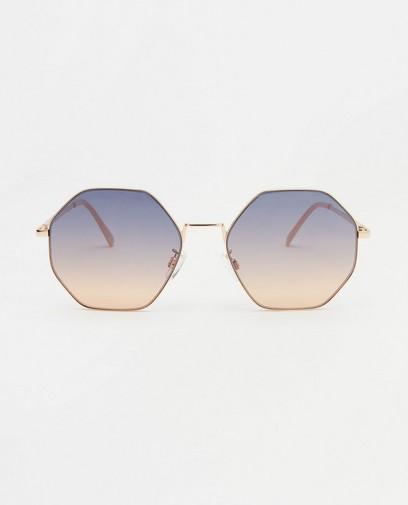 Goudkleurige zonnebril