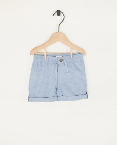 Short bleu en coton bio