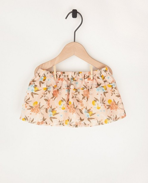 Roze rokje met bloemenprint - allover - Cuddles and Smiles