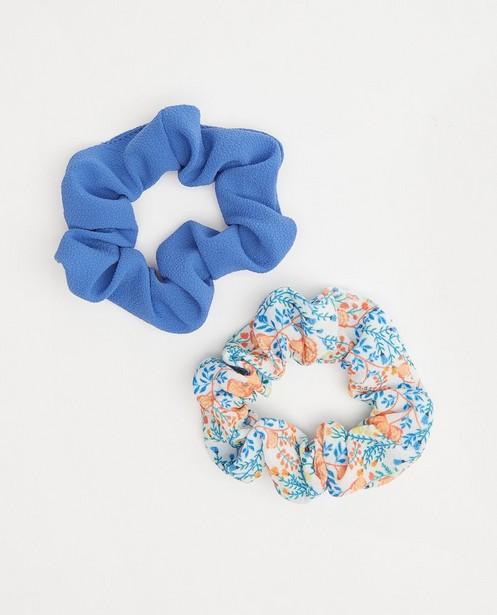 Lot de 2 chouchous - bleu et fleuri - Fish & Chips