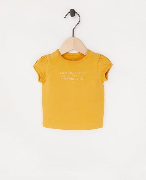 T-shirt en coton bio à inscription - stretch - Newborn