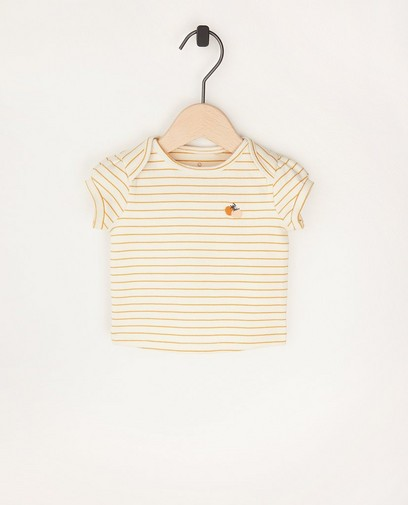 Offwhite T-shirtje met strepen