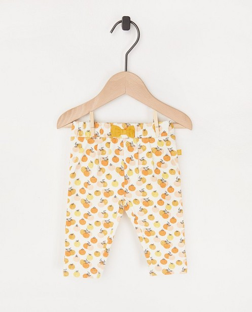 Pantalon écru à imprimé - stretch - Newborn