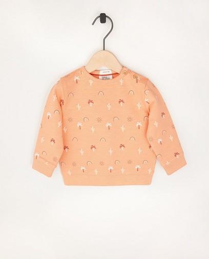 Oranje sweater van biokatoen