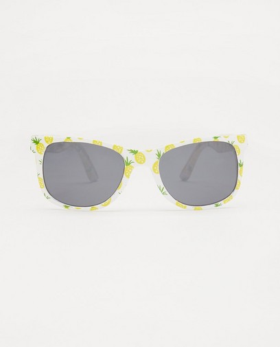 Lunettes de soleil blanches à imprimé ananas