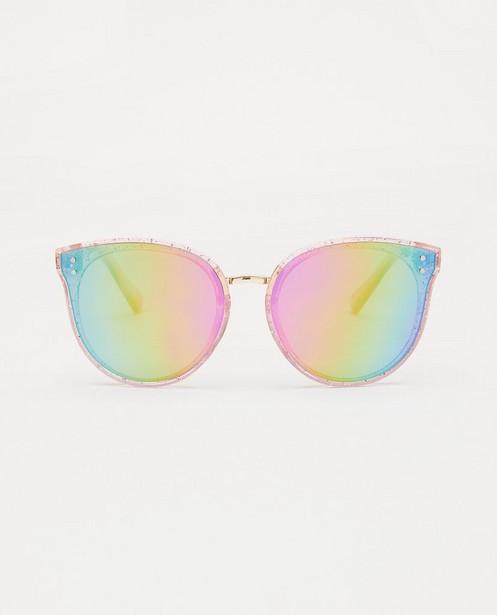 Lunettes de soleil roses à paillettes - et verres miroir - JBC