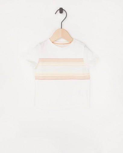 Wit T-shirt met strepen