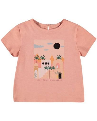 Biokatoenen T-shirt met print