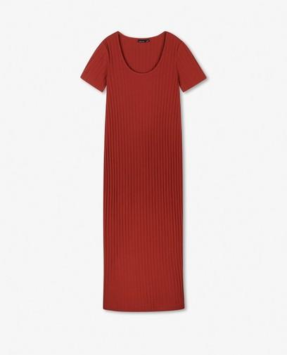 Aansluitende jurk in roest JoliRonde