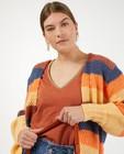 Cardigan à rayures Pieces - en tricot - Pieces