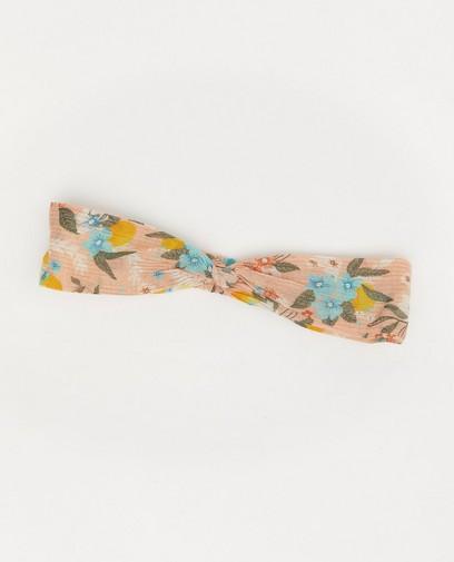 Roze haarband met bloemenprint