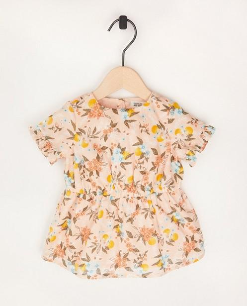 Roze jurk met bloemenprint - allover - Cuddles and Smiles
