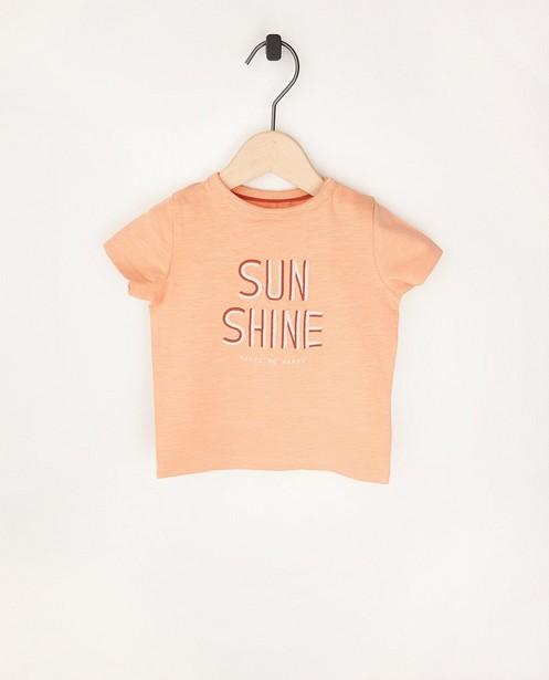 Oranje T-shirt met print - van biokatoen - Cuddles and Smiles