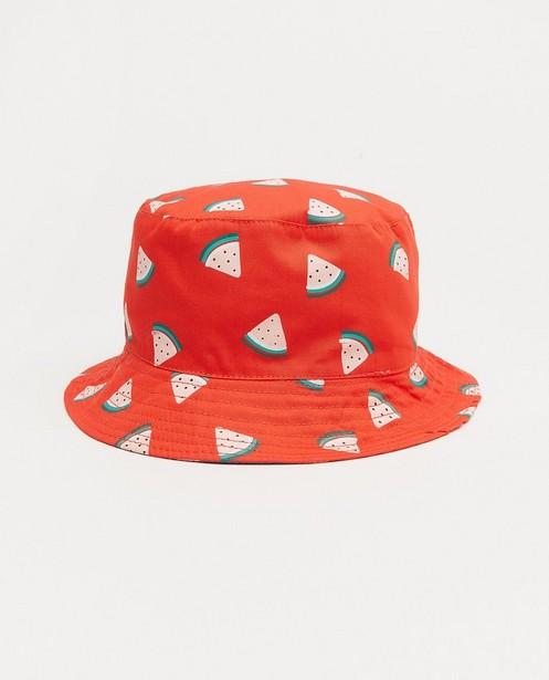 Chapeau rouge à imprimé - imprimé à pastèques - JBC