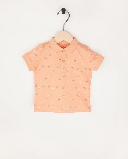 Oranje polo met print - allover - Cuddles and Smiles