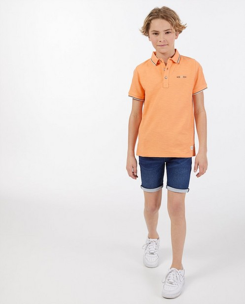 Oranje polo Dylan Haegens - met rubberprint - Dylan Haegens