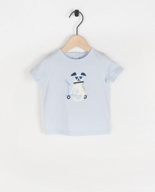 T-shirt bleu, imprimé BESTies - en coton - Besties