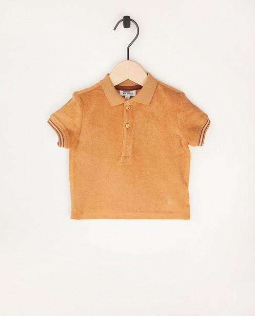 Sponzen polo in bruin - met knoopjes - Cuddles and Smiles