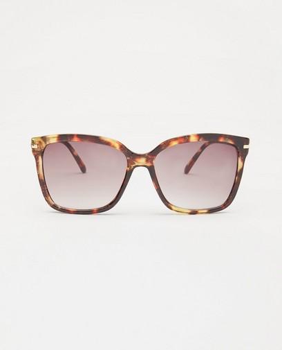 Bruine zonnebril met print