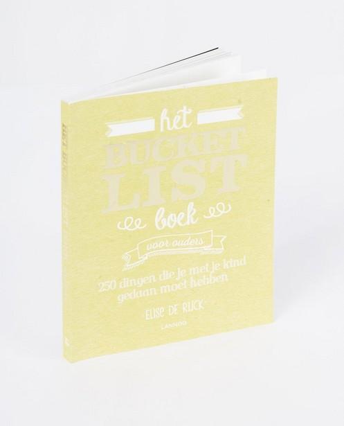 Le livre «Bucketlist» d'Elise De Rijck - pour les parents - lann