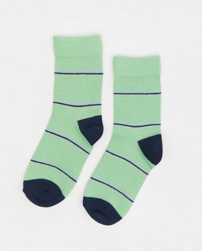 Groene kousen met strepen Wickie