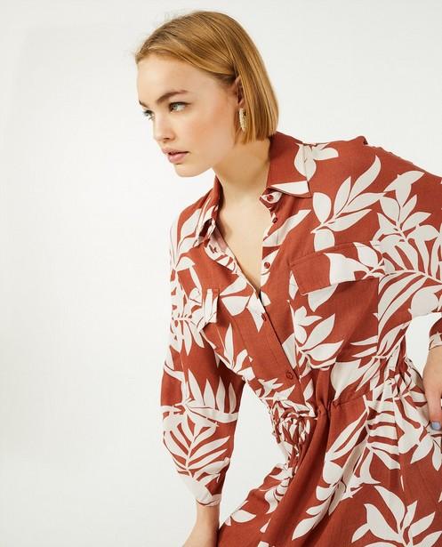 Robe brune à imprimé Sora - boutonnée - Sora