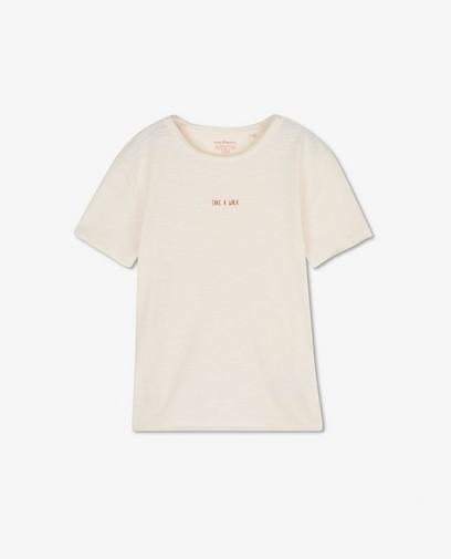 T-shirt en coton bio à inscription