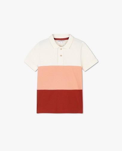 Polo en coton bio avec color block