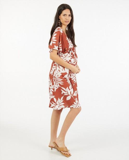 Bruine jurk met print JoliRonde - allover - Sora