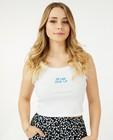 T-shirts - Cropped top met ribreliëf Steffi Mercie