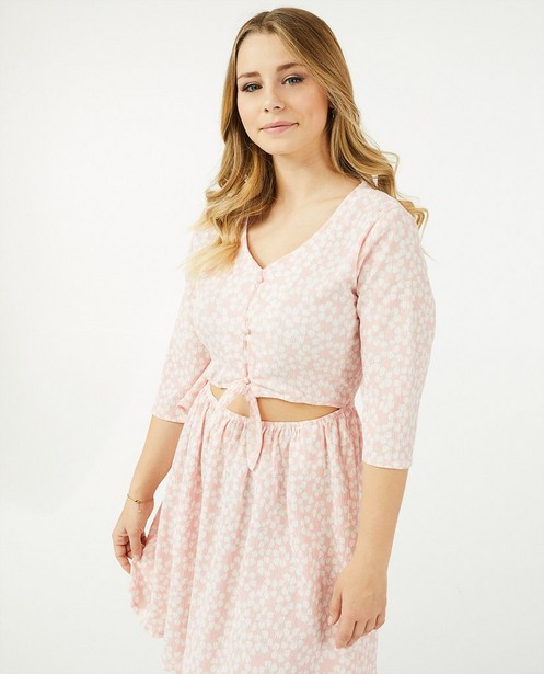 Roze jurk met print Steffi Mercie - allover - Steffi Mercie
