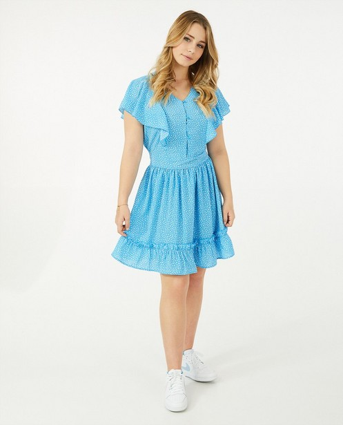 Robe bleue à imprimé Steffi Mercie - imprimé intégral - Steffi Mercie