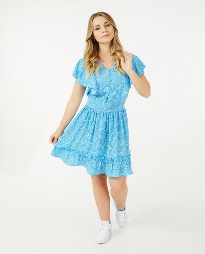 Blauwe jurk met print Steffi Mercie