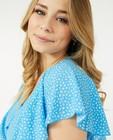 Kleedjes - Blauwe jurk met print Steffi Mercie