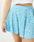 Rokken - Blauwe rok met print Steffi Mercie