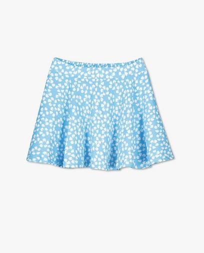 Blauwe rok met print Steffi Mercie