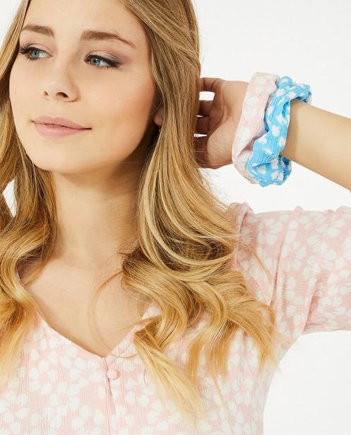 2-pack scrunchies Steffi Mercie - met allover print - Steffi Mercie