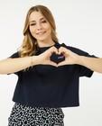 T-shirts - Cropped T-shirt in blauw Steffi Mercie