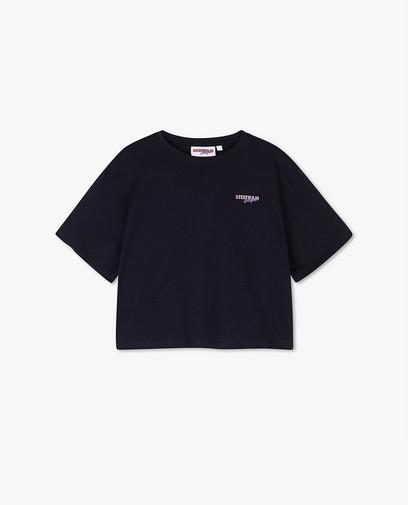 Cropped T-shirt in blauw Steffi Mercie