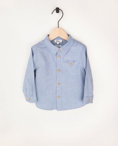 Chemise bleu clair en coton bio