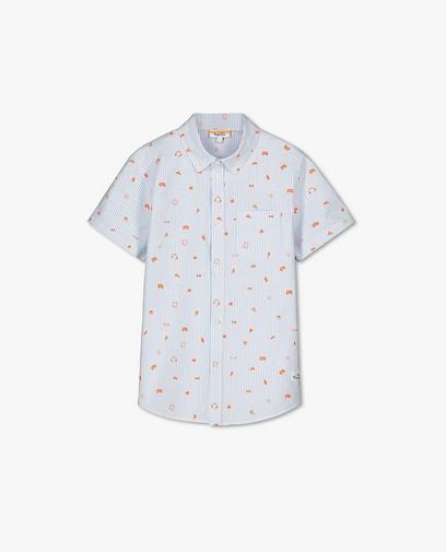 Gestreept hemd met print Dylan Haegens