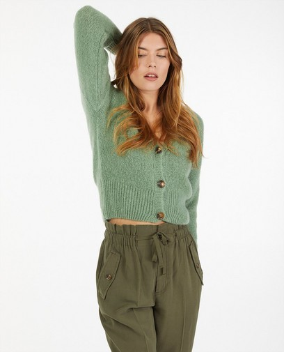 Groene cardigan